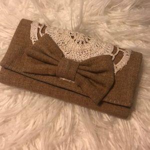 Super cute cloth bow wallet!!!😊